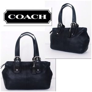 Coach Soho Black Leather Alex Tote Bag Carryall